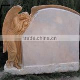 High quality white marble angel headstones tombstones hand carved stone sculpture from Vietnam No 07