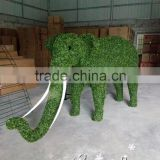 garden ornaments artificial topiary frame elephant animal plastic green sculpture garden statues with factory price