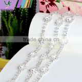Bling Bling Fashion latest Fancy Rhinestone Cup Chian For Garments,bags,shoes decorations