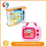 Educational music tv plastic battery operated baby tv toys