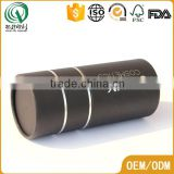 Round recyclable silver foil logo black cosmetic paper tube packaging cardboard tube packaging                                                                         Quality Choice