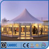 India Decoration tents with glass windows for exhibition tents pagoda tents