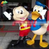 Christmas garden cute fiberglass cartoon statue decorations