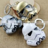 Custom shaped white arms soldier 3D metal guards keychain                                                                         Quality Choice