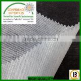 polyeater material weft insert non woven fusible interlining/cut in tapes for collar,cuff