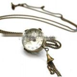 Vintage Steampunk Style Ball Pocket Watch Necklace HN1304