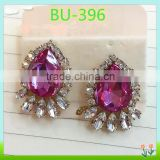 Fashion garment accessory decorative glass crystal button