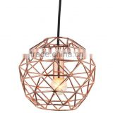Hot Sale E27 Copper Hanging Lamp,Edison Light Bulb Cage Lamp,Copper Pendant Bird Cage Light