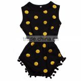 knitted baby jumpsuit black yellow spot rompers baby girls rompers jumpsuits