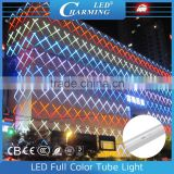 IP65 Outdoor waterproof RGB led digital tube light for building facade lighting