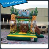 4m inflatable safari park / Inflatable elephant bouncer / inflatable lion bouncer for sale