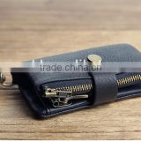 Metal Zipper Man Style Leather Key Case Coin Purse Key Holder Car Key Purse Key Bag Key Wallet