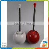 Round Shape Ceramic Toilet Brush Holder