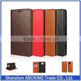 Genuine Leather Wallet Stand flip leather case for Microsoft Lumia 950 XL Genuine Leather Case