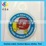 Personalized best price clear epoxy sticker crystal sticker custom lighter sticker