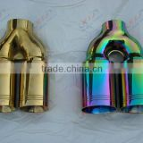 Car Asccersories Titanium Coating, PVD Titanium Coating, exhaust pipe, exhaust tail pipe, blue titanium coating, exhaust muffler