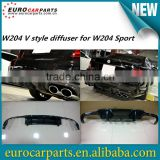 High quality Carbon fiber w204 V design diffuser rear lip for MB C-CLASS w204 c63 and AMG sport 2012~