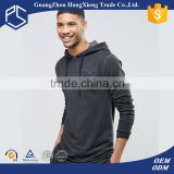 OEM good quality simple 50% black 100% cotton light weight men oversized casual ear hoodie