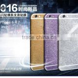 Factory Price Hot Sale Sticker For iPhone 6 4.7 & 5.5, Mobile Phone Bling Bling Glitter Sticker Skin Vinyl Decal
