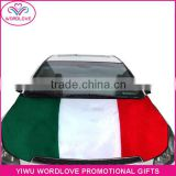 high quality spandex&polyester custom printed car engine hood cover,car hood flag for national day