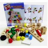 Hot sale item --- 30 pieces changeable nut building blocks car
