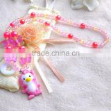 New Products 2016 Kids animal Polymer style Clay Necklace Bracelet Ring Beads Kids Jewelry Set