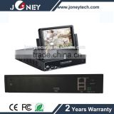 330 degree angle Embedded LINUX 7 inch Monitor P2P CCTV Security H 264 8CH NVR