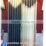 2015 hot sale 018 linen like curtain fabric ; made up curatin in hotel or home