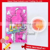 Hard Foot Shape Lollipop with Popping Candy