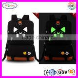 B583 DIY Glow in The Dark Backpack Student Canvas Printed Popular High School Student Backpack