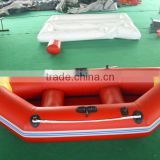 red pvc inflatable fishing boat