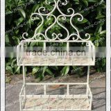 H66cm Pink rose designed french country style wrought iron planter stand/garden display stands/garden display stands cheap