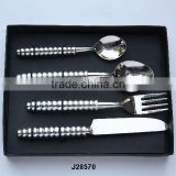 Hand Made steel cutlery set in mirror polish