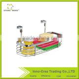 Small Iron Wire Kitchen Storage Basket For Towel Brush