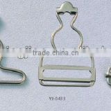 KMJ-1812 suspender metal buckles with different sizes for bags usage