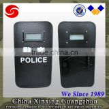 Hand bullet proof Anti Riot rubber handle PE steel ballistic shield