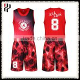 Sublimated reversible customed 100% Polyester breathable Womens Basketball Uniform Design