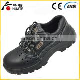 Black steel leather safety shoe/industry work safety shoe