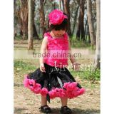 Teen Adult BLACK HOT PINK Ruffles Pettiskirt Party Tutu W35D