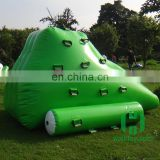 HI 0.6mm pvc raw material small size green color inflatable pool iceberg float water toy