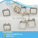 Plating silver design colorful stud for bag