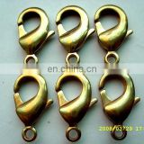 Fashion metal jewelry findings metal small snap hook lock lobster clasps for bracelets and bag
