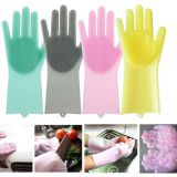 Silicone Gloves Wash Scrubber Heat Resistant Reusable Brush Silicone Dish Scrubber for Cleaning Household Dish Washing the Car whatsapp: +8615992856971
