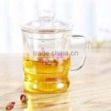 Chinese Glass Teapot Tea Cup 350ml with Infuser and lid for green or herbal tea