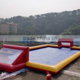 Factory outlet inflatable soap soccer field, inflatable football pitch playground for kids and adults