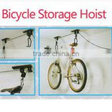 CEILING MOUNT BICYCLE LIFT BIKE STORAGE STORE RACK HANGER GARAGE HOIST TOOL NEW