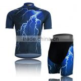 Lightning design 3XL Plus Size Bicycle Bike Cycling Jersey Sets for Men