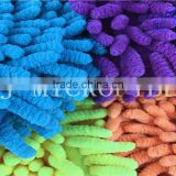 Colorful Useful Microfiber Big Chenille Fabric Used In Bath Mat Or Car Cleaning Wash Mitt