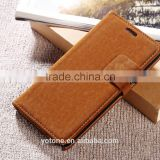 Hot sale squirrel grain soft touch flip leather wallet htc case cover with money and credit slots for htc one m7
