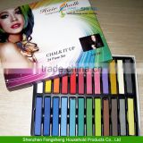 24 COLOUR HAIR CHALK KIT TEMPORARY HAIR DYE COLOUR SOFT PASTELS SALON Non-toxic